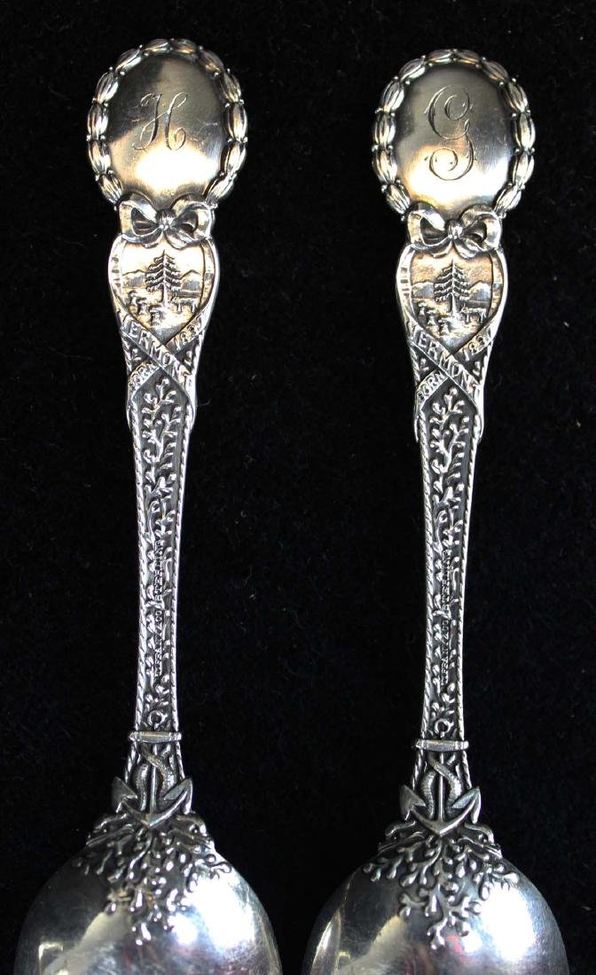 3 Admiral Dewey sterling spoons including Tiffany - 5