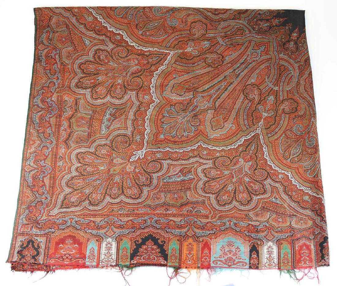 late 19th c paisley shawl - 3