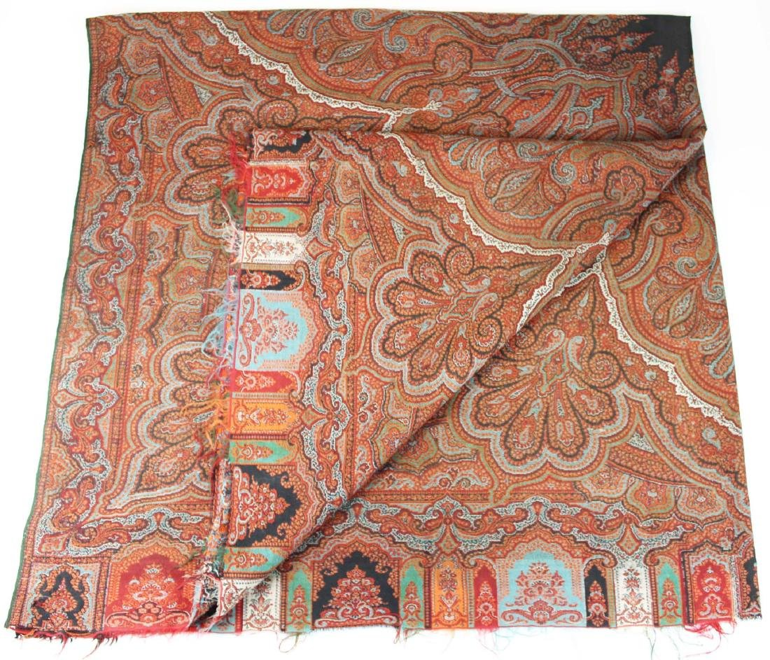 late 19th c paisley shawl - 6