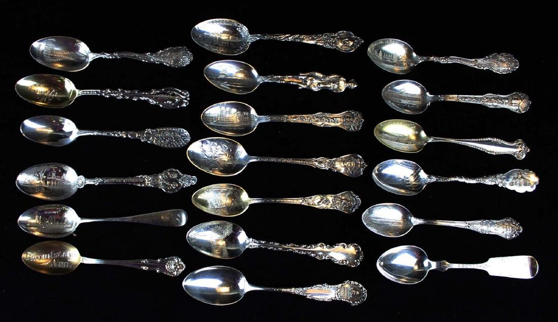 Outstanding collection of sterling souvenir spoons