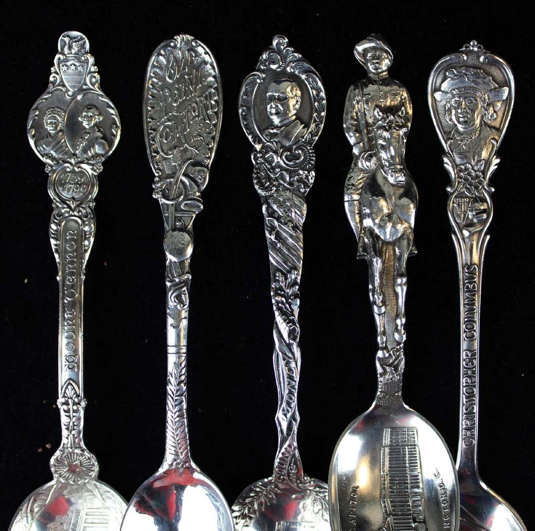 Outstanding collection of sterling souvenir spoons - 2
