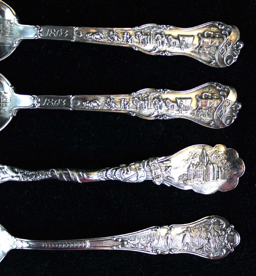 Outstanding collection of sterling souvenir spoons - 5