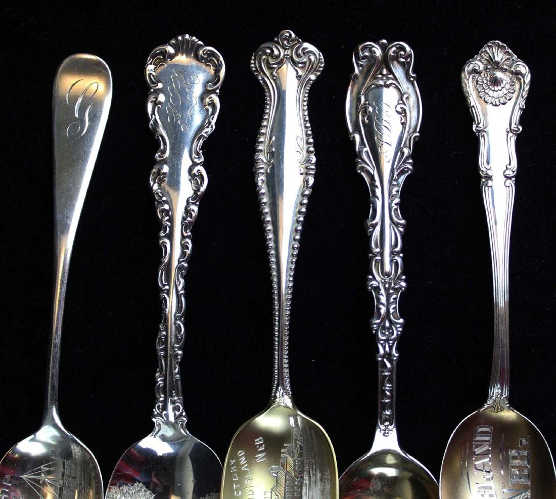 Outstanding collection of sterling souvenir spoons - 6