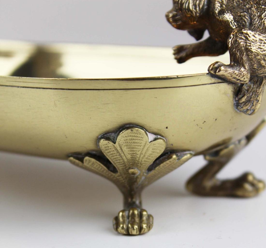 late 19th c Vienna bronze dish w/ cat & dog - 7