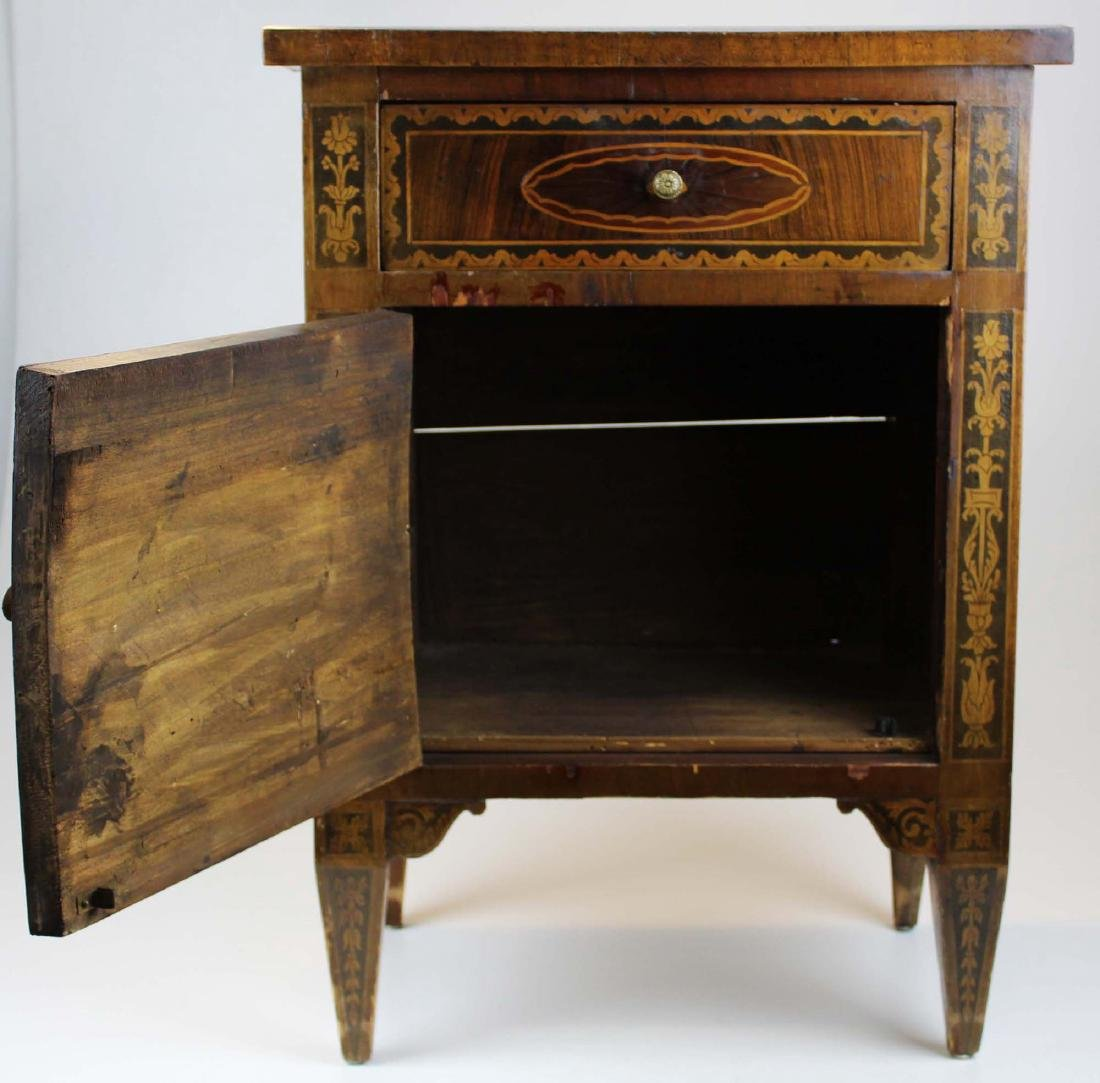 19th c Louis XVI floral marquetry half commode - 2