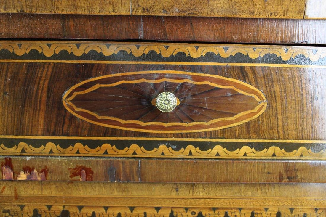 19th c Louis XVI floral marquetry half commode - 3