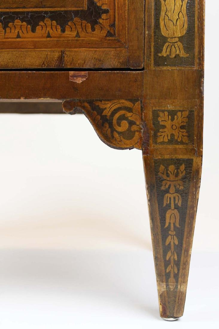 19th c Louis XVI floral marquetry half commode - 4