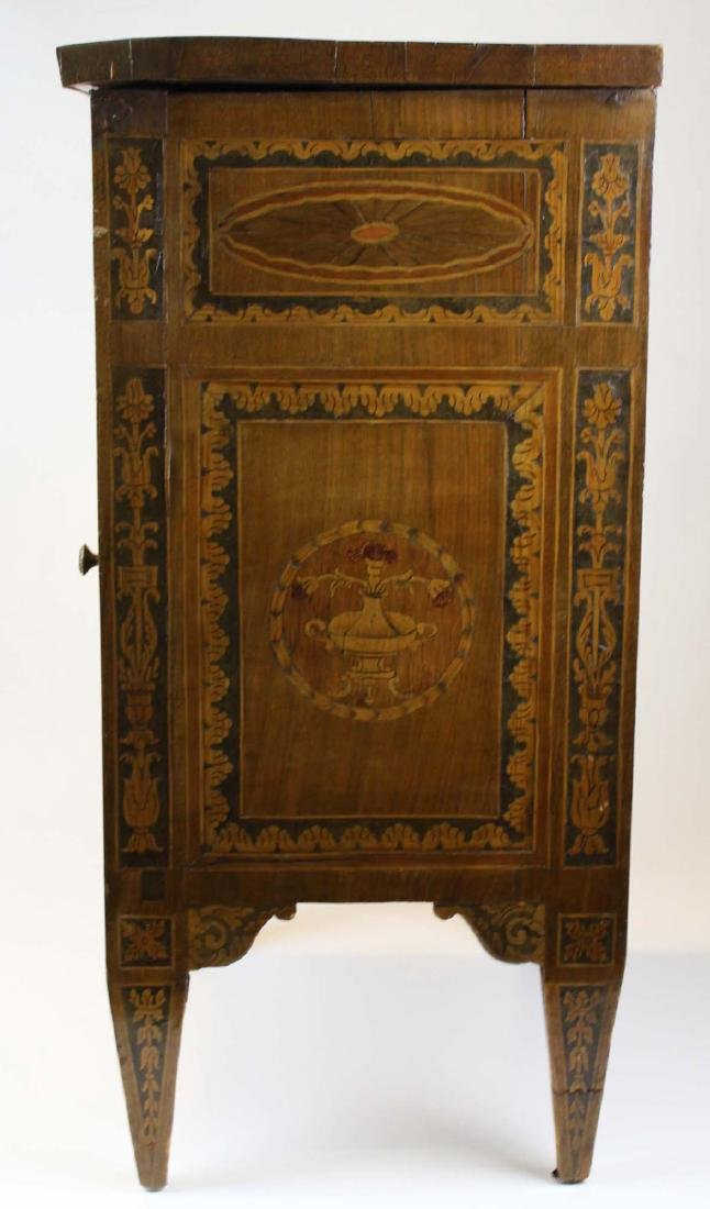 19th c Louis XVI floral marquetry half commode - 5