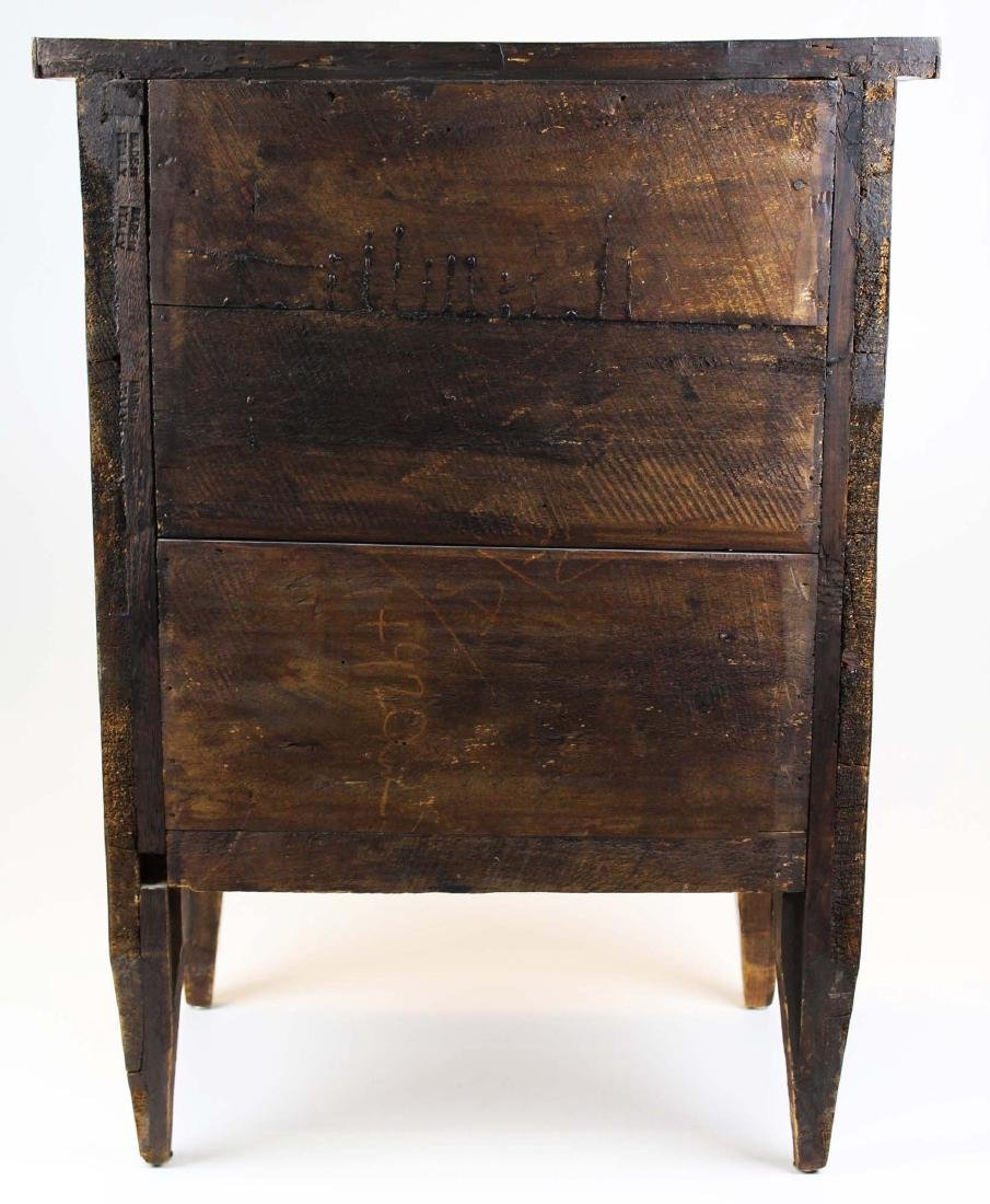 19th c Louis XVI floral marquetry half commode - 6