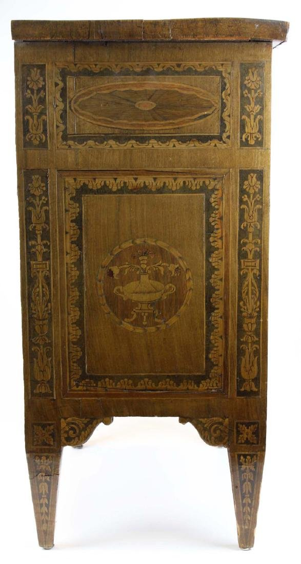 19th c Louis XVI floral marquetry half commode - 7