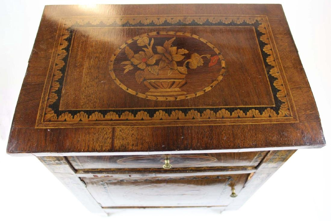 19th c Louis XVI floral marquetry half commode - 8