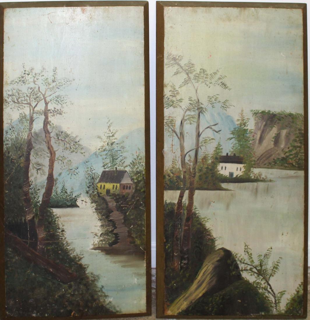 Pair of primitive landscapes