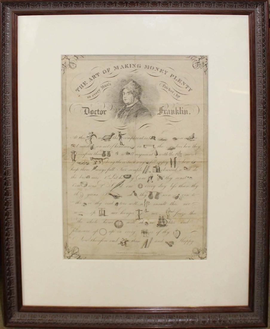 19th c Dr Franklin Art of Making Money Plenty