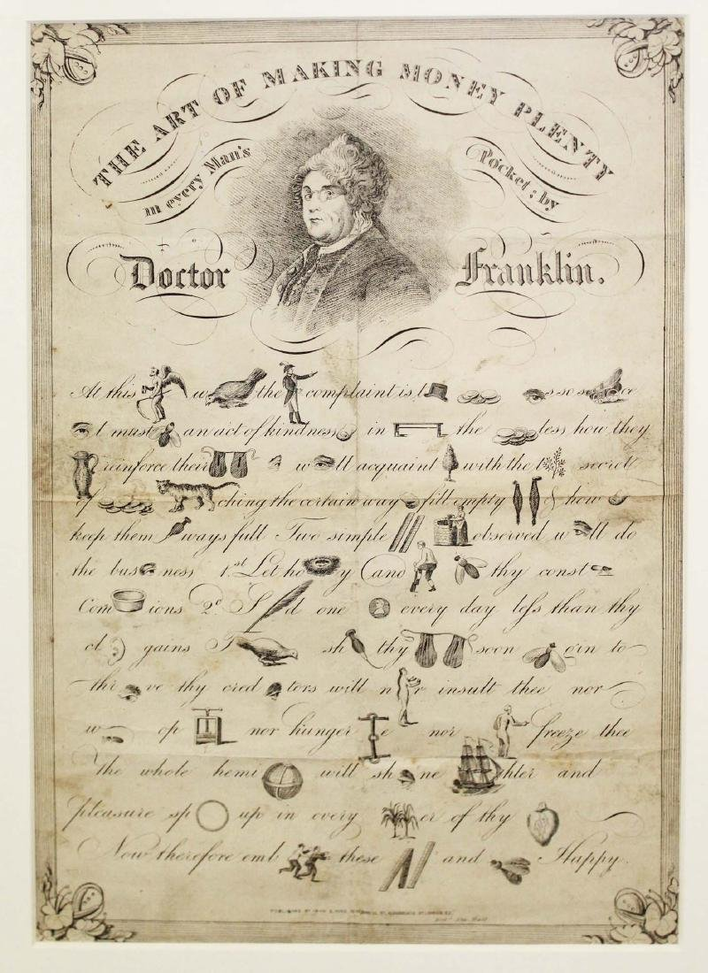 19th c Dr Franklin Art of Making Money Plenty - 2