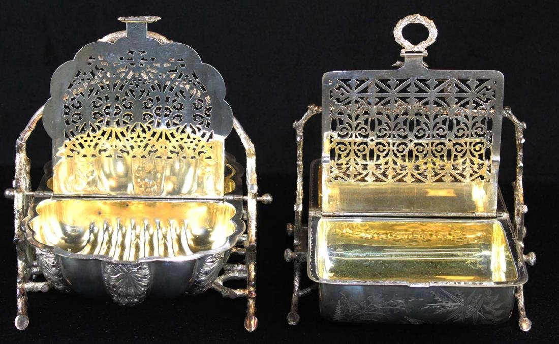 Two Victorian silver-plated bun or biscuit warmers - 2