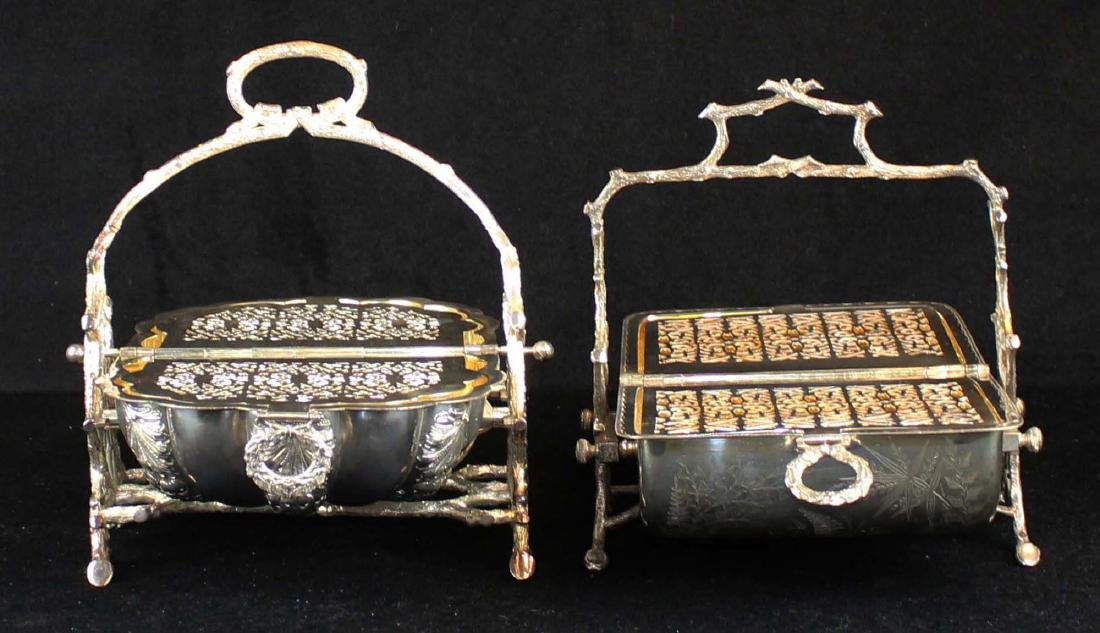 Two Victorian silver-plated bun or biscuit warmers - 3