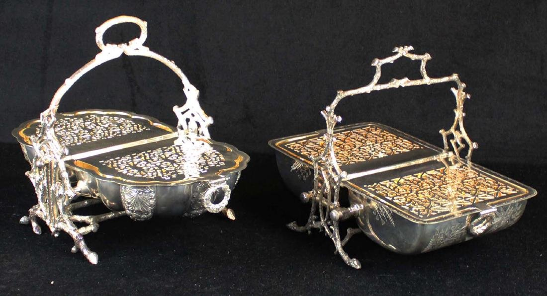Two Victorian silver-plated bun or biscuit warmers - 4