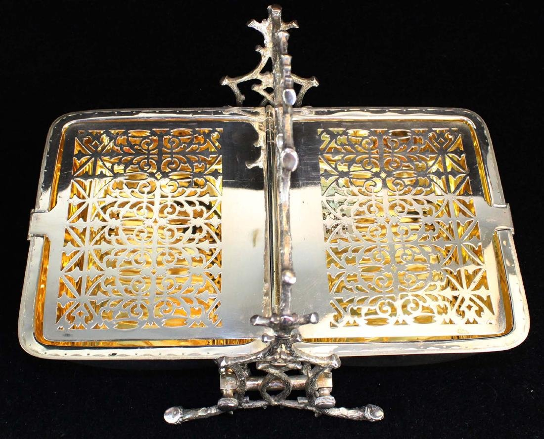 Two Victorian silver-plated bun or biscuit warmers - 5
