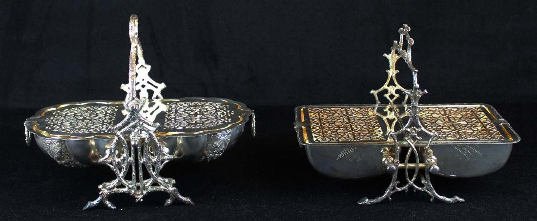 Two Victorian silver-plated bun or biscuit warmers - 7