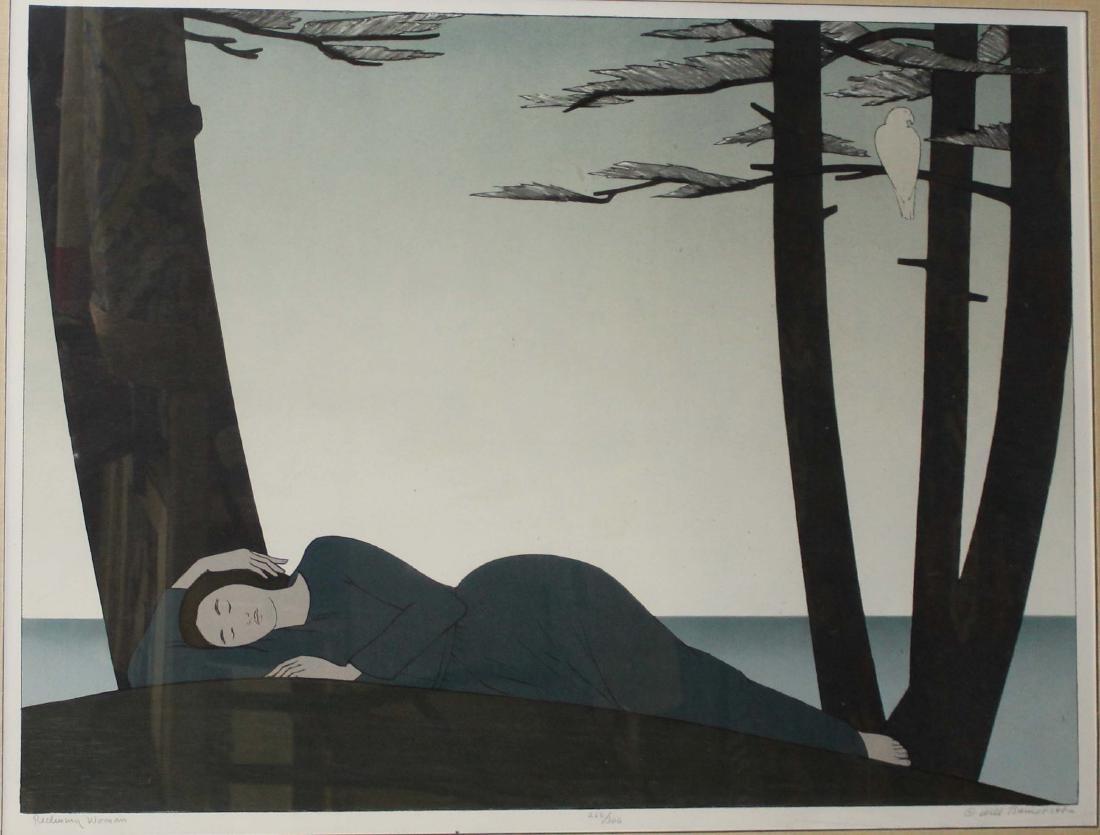Will Barnet (AM 1911-2012) Reclining Woman