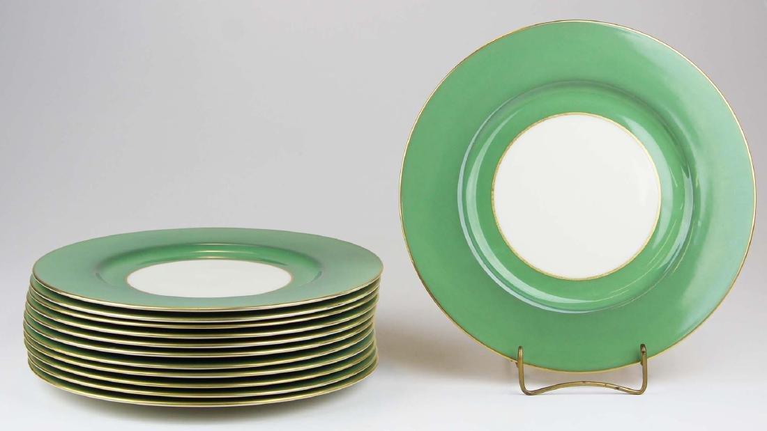 set of 12 Lenox porcelain dinner plates