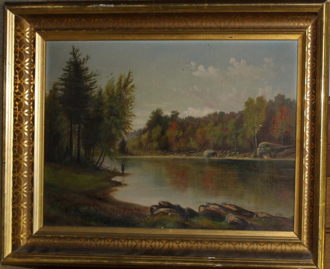 19th c Vermont school landscape