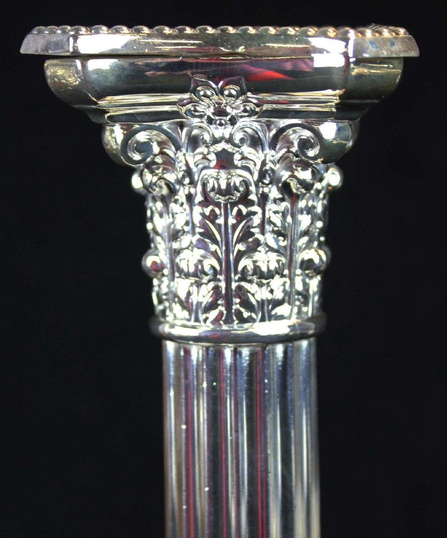 pair of Gorham silverplated column candlesticks - 4