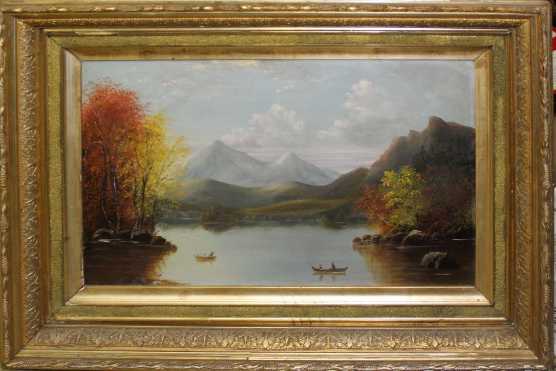 19th c Hudson River school landscape