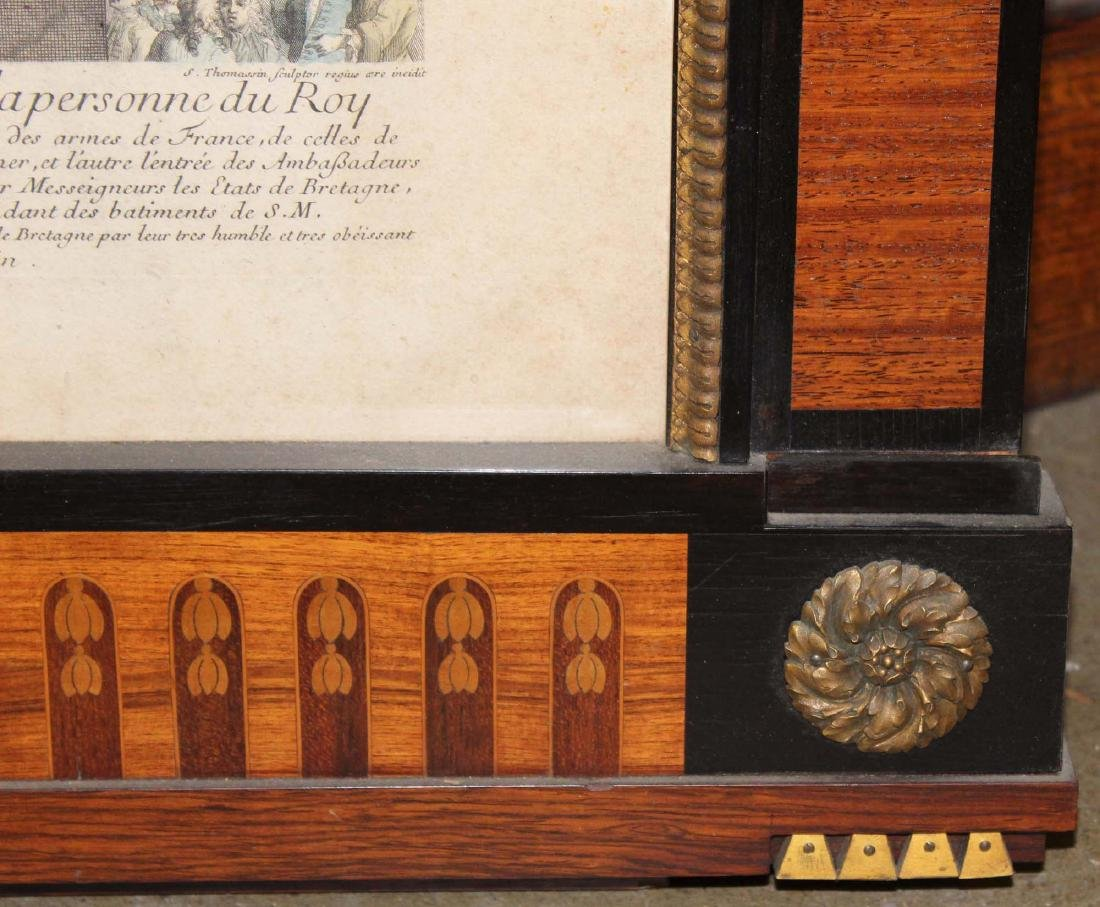 early 20th c marquetry inlaid framed print - 4