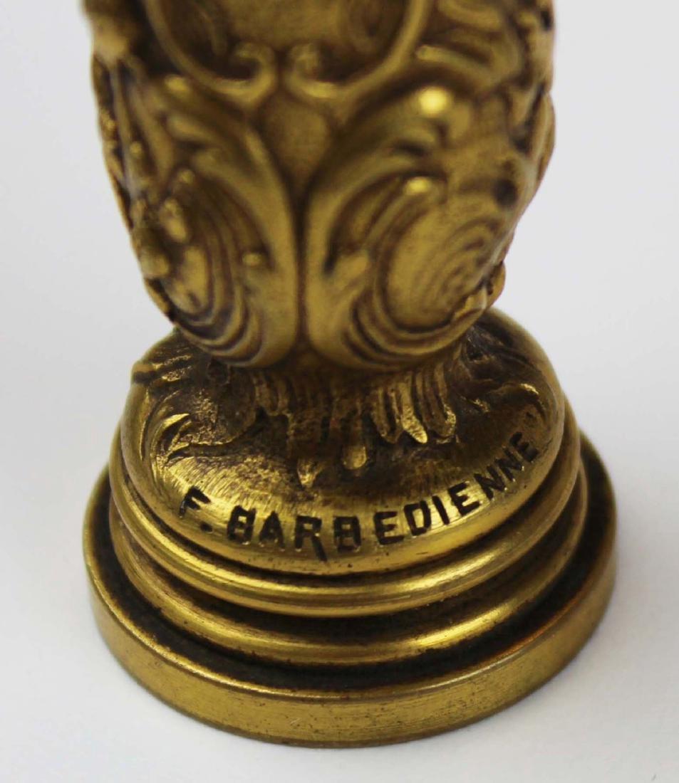 late 19th c Ferdinand Barbedienne bronze seal - 6
