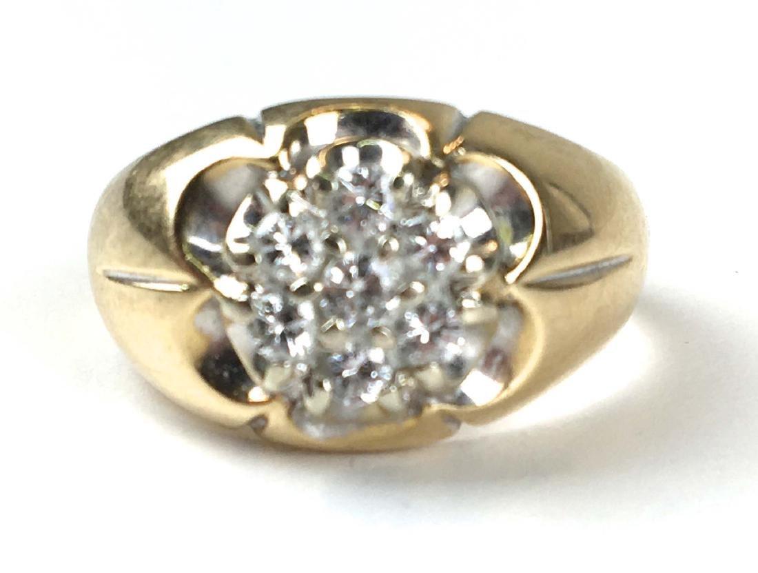 14k y.g men's diamond ring