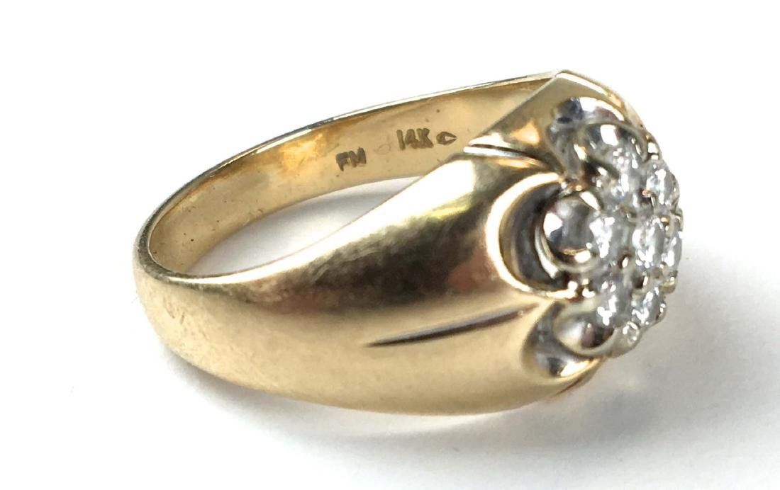 14k y.g men's diamond ring - 2