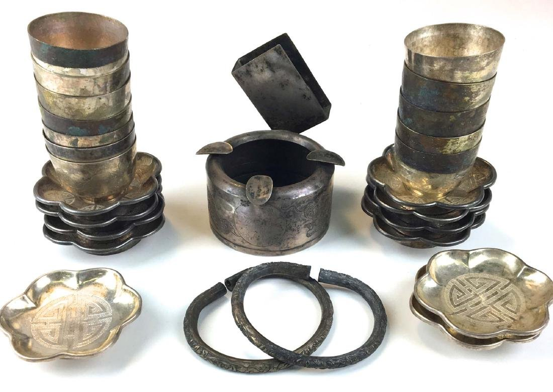 Group of Chinese silver and silver plate