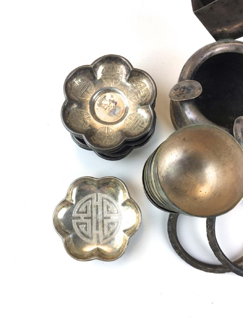 Group of Chinese silver and silver plate - 3