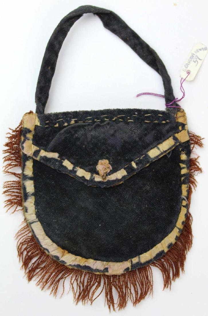 mid 19th c child's bag made by Julia Dewyea
