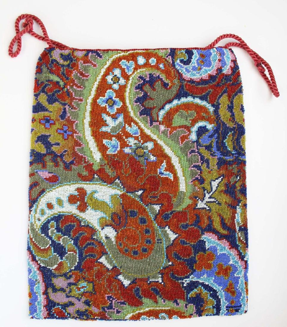 Persian carpet design micro beaded purse