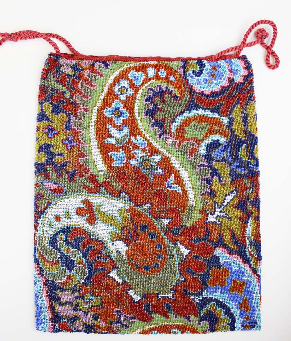 Persian carpet design micro beaded purse - 4