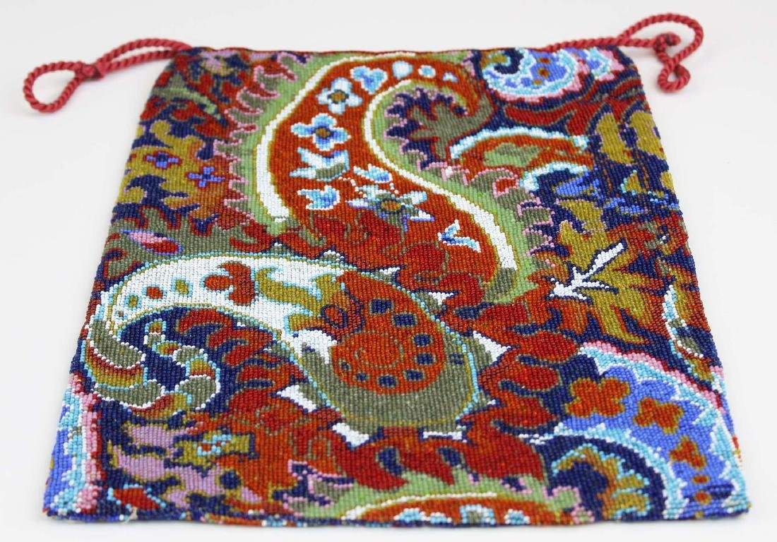 Persian carpet design micro beaded purse - 6