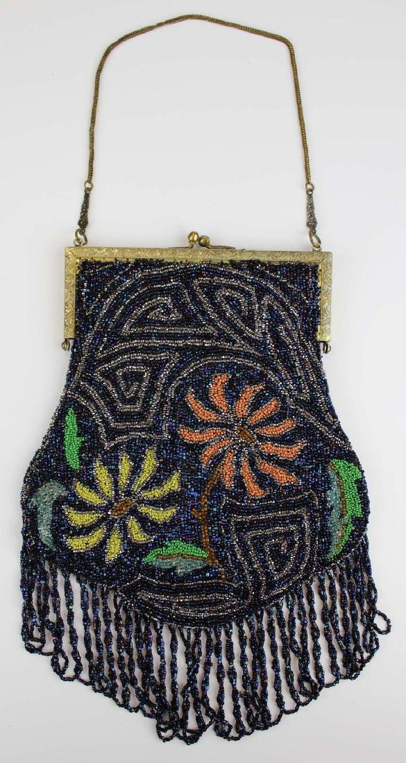 vintage Art Deco era beaded purse