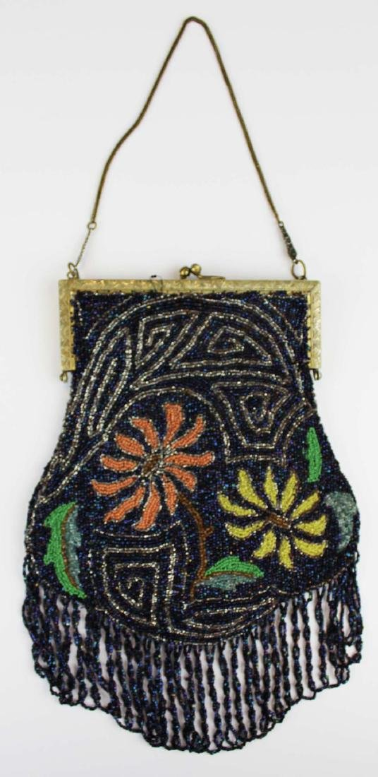 vintage Art Deco era beaded purse - 9