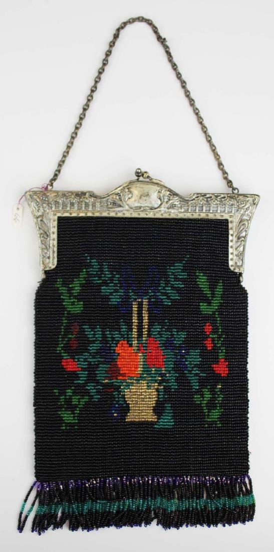 vintage Art Deco era beaded purse - 6