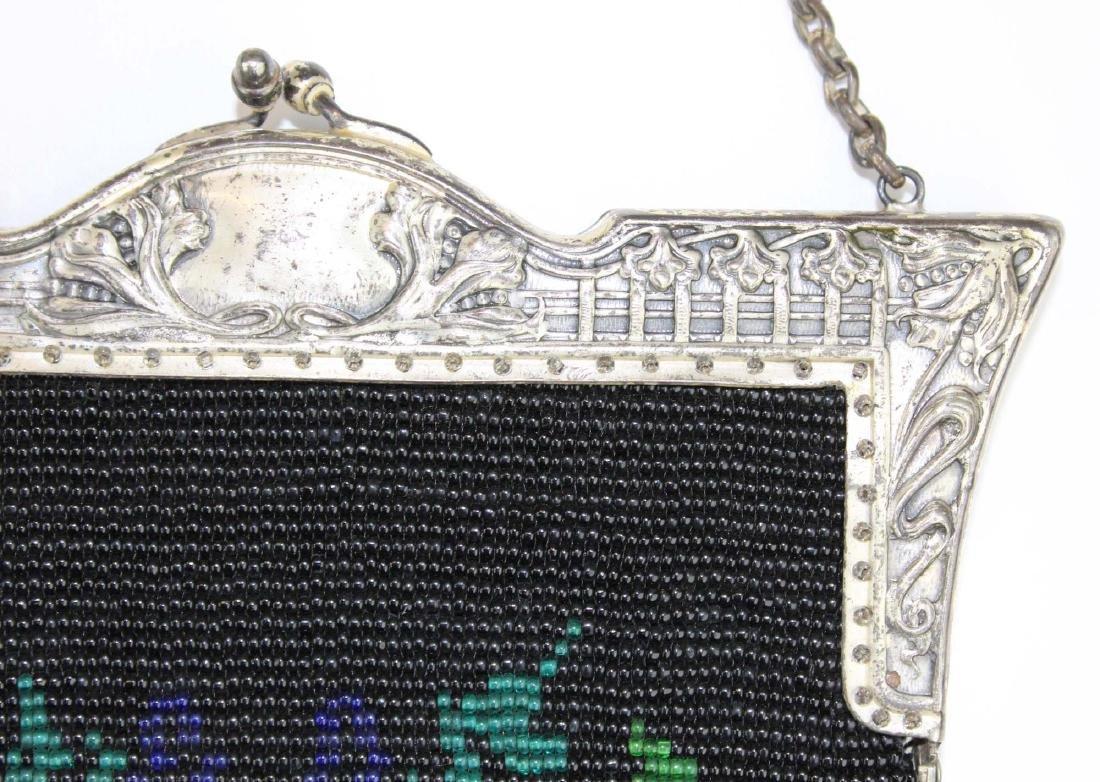 vintage Art Deco era beaded purse - 8