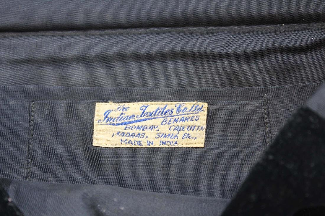 1940's India metallic thread clutch purse - 9