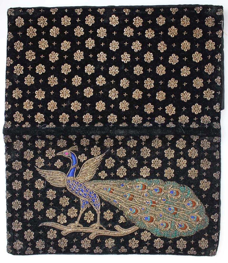 1940's India metallic thread clutch purse - 3