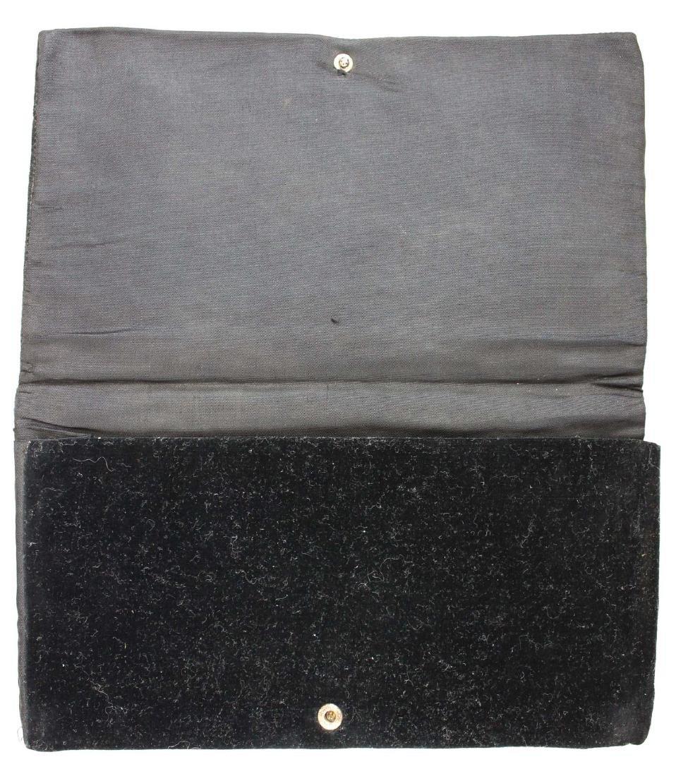 1940's India metallic thread clutch purse - 4