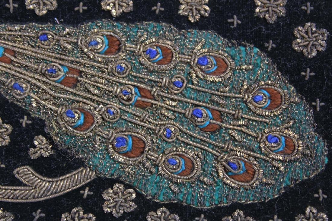 1940's India metallic thread clutch purse - 7