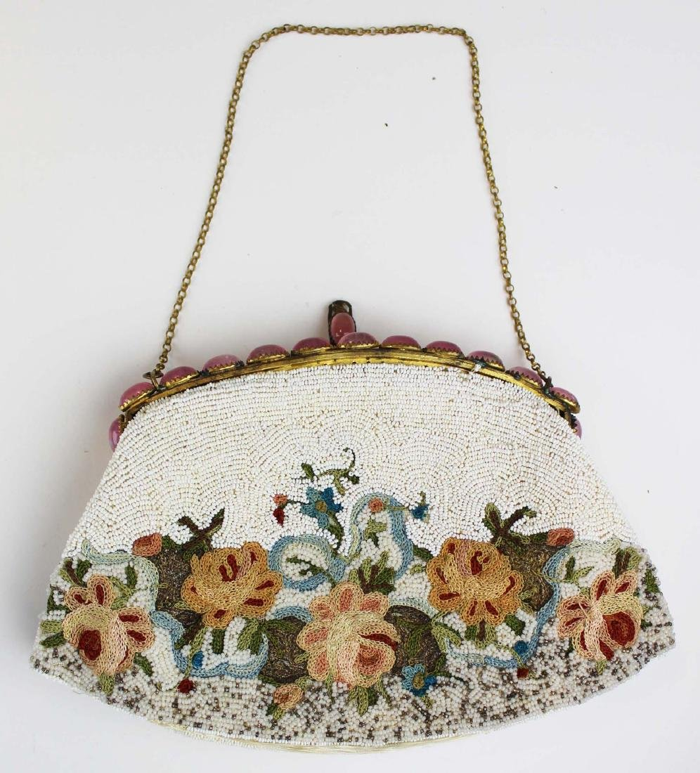 vintage French micro beaded purse