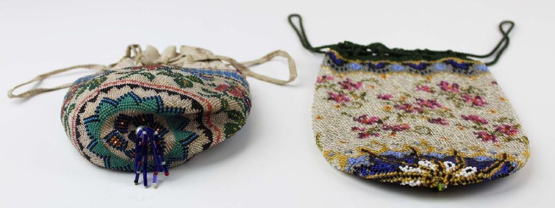 two ca 1900 vintage beaded purses - 4