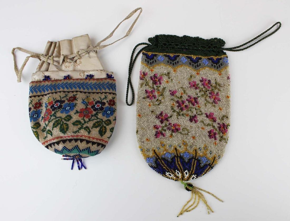 two ca 1900 vintage beaded purses - 7