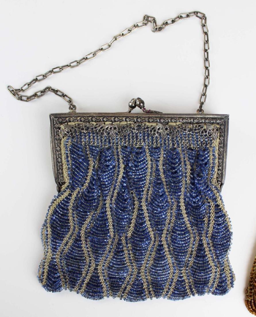 two vintage Art Deco era beaded purses - 2
